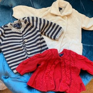 Lot of three sweaters by Baby Gap